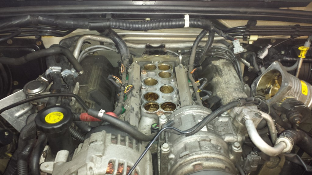 Land Rover Discovery Manifold removed for driling
