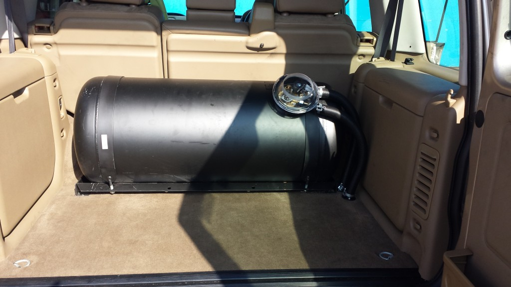 Land Rover Discovery 100 L LPG tank