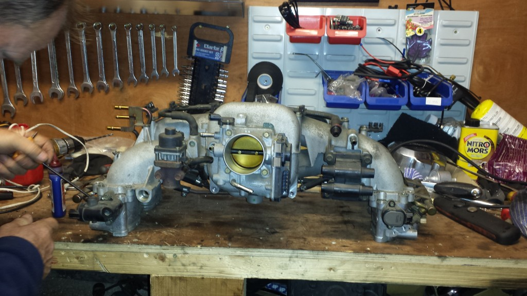 Subaru Forester Inlet manifold removed for drilling and tapping